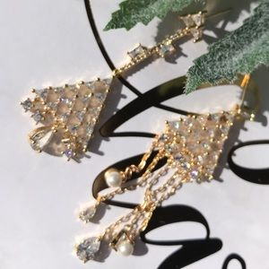 Christmas tree 18k Gold Plated earrings
